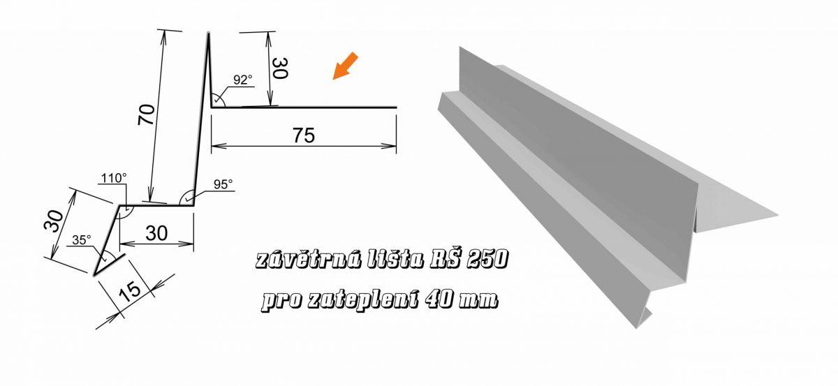 Závětrná lišta var. A (10A / 3,0 kg)