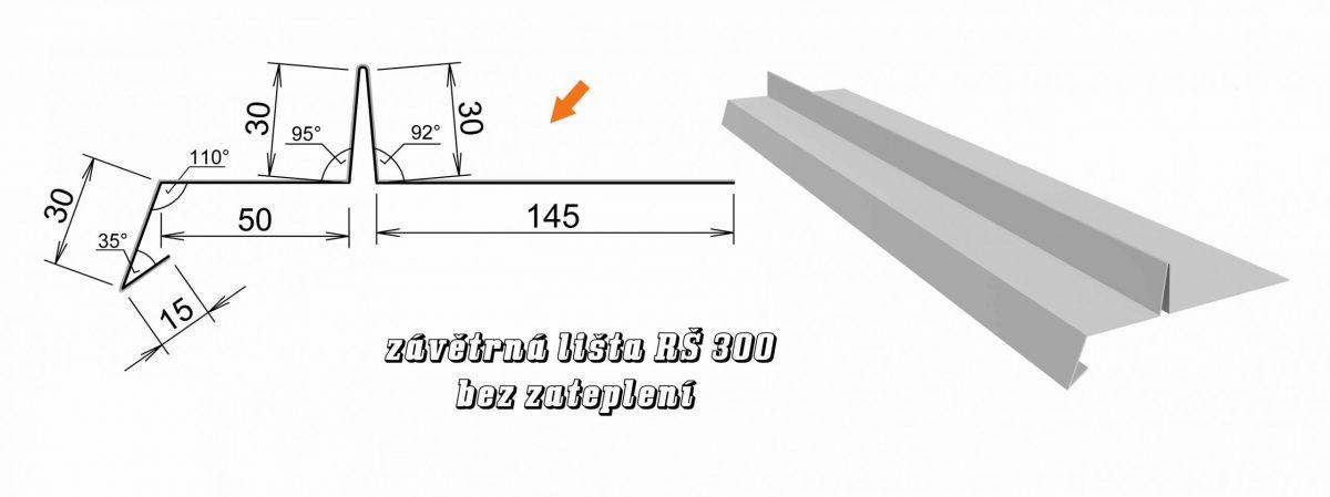 Závětrná lišta var. D (10D / 3,6 kg)