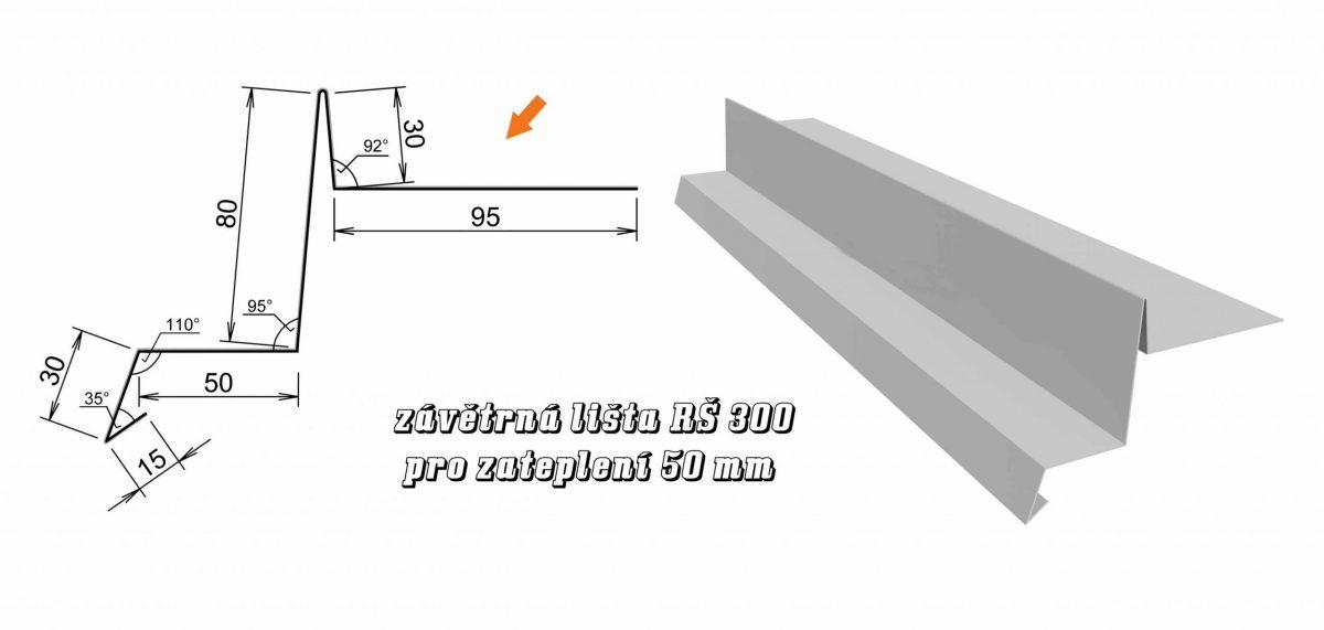 Závětrná lišta var. E (10E / 3,6 kg)