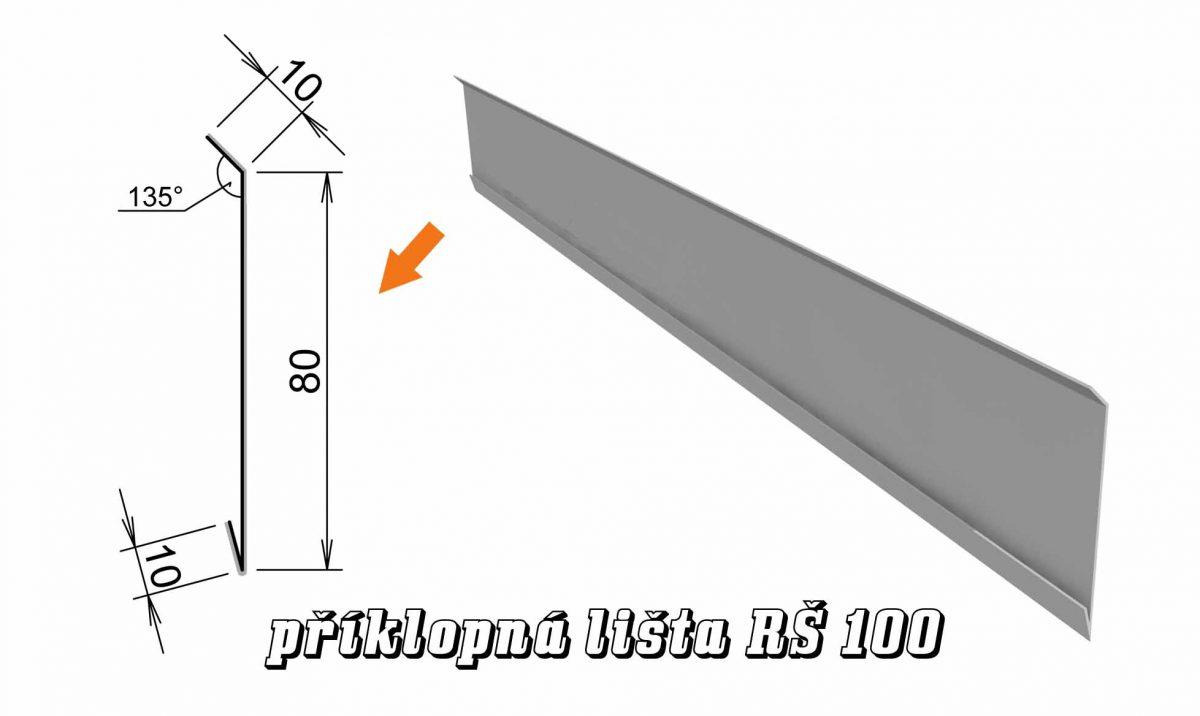 Příklopná lišta var. A (12A / 1,2 kg)