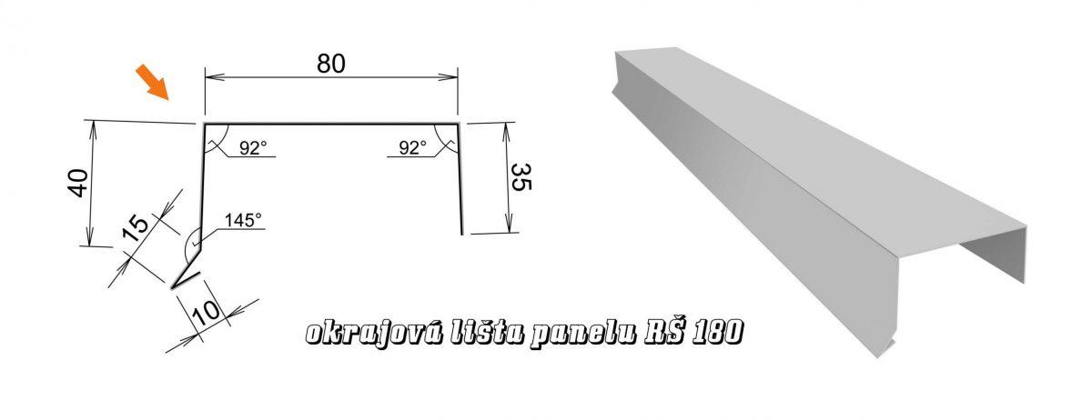 Okrajová lišta panelu var. A (13A / 2,16 kg)