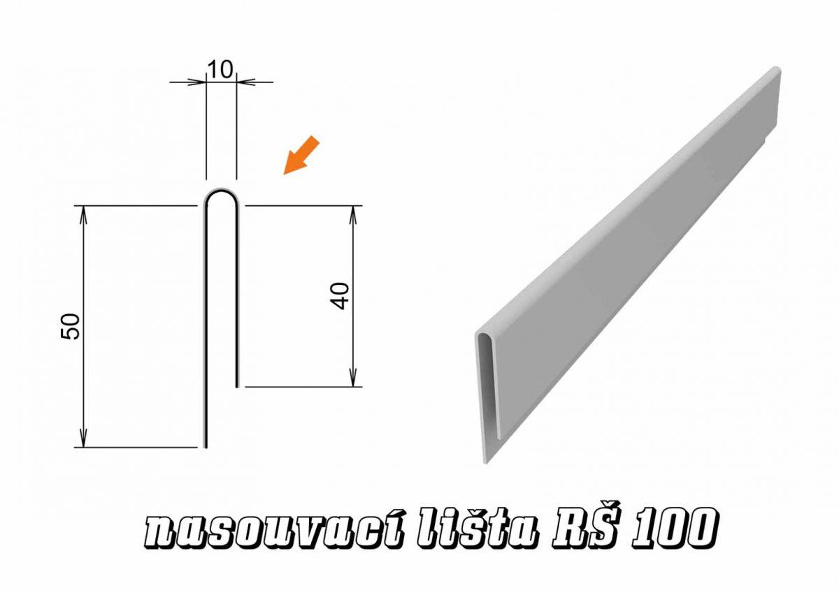 Nasouvací lišta var. B (18B / 1,2 kg)