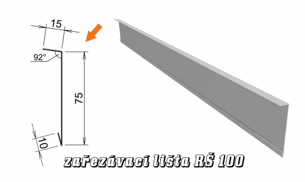 Zařezávací lišta var. A (04A / 1,2 kg)
