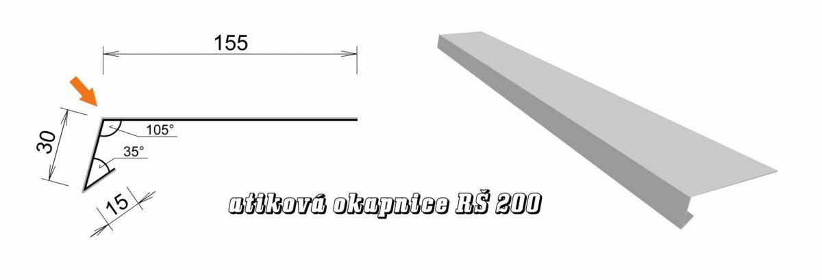 Atiková okapnice var. B (05B / 2,4 kg)