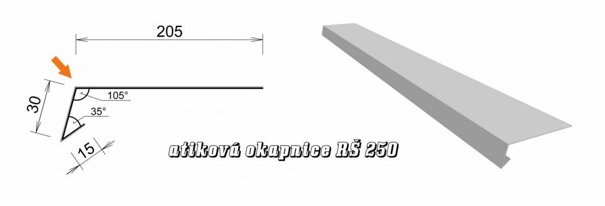 Atiková okapnice var. C (05C / 3,0 kg)
