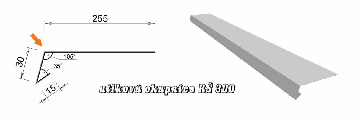 Atiková okapnice var. D (05D / 3,6 kg)
