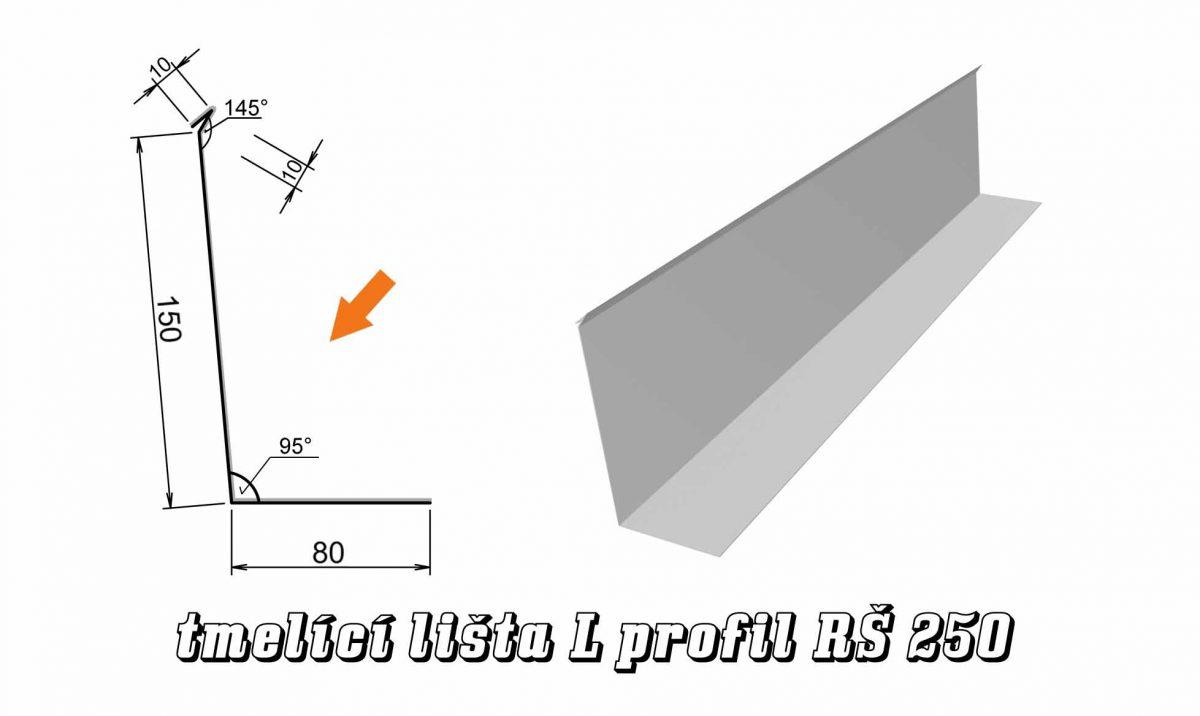 Tmelící lišta L profil var. A (09A / 2,5 kg)